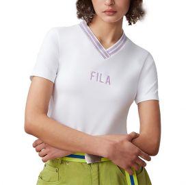 Fila Γυναικεία κοντομάνικη μπλούζα Chrisanna V-Neck Tee